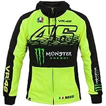 VR46Hombre Rossi Monster Zip Hoody, hombre, color amarillo, tamaño medium