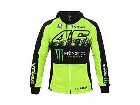 VR46Messieurs Rossi Monster zippé à capuche M Yellow