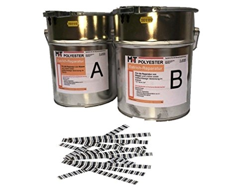 1,2 Kg Rissharz Estrich-Reparatur Rissverschluss Epoxid Harz +20 Estrichklammern