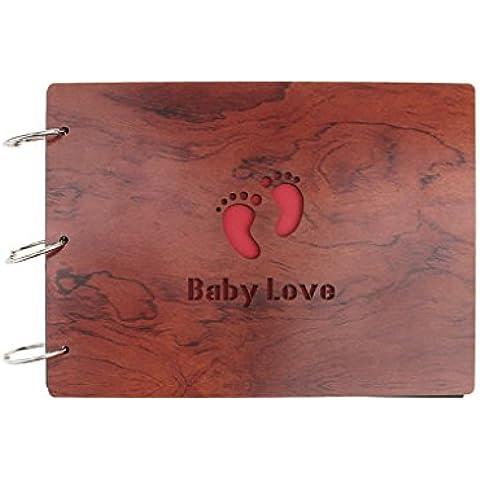 Classic personalizado hecho a mano DIY álbum de fotos álbum de fotos libro elegante Creative diseño de regalo para boda–aniversario feliz memoria, Baby Love,