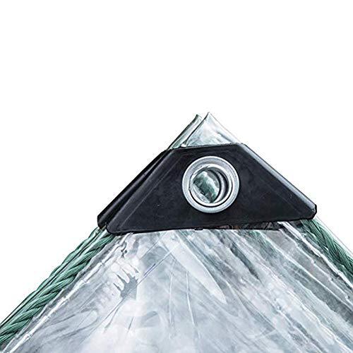 Abdeckplane Industrial Grade Clear PVC-Plane Wasserdicht Leicht Zu Falten Transparente Abdeckungen Isolierung Winddicht Regendicht Shelter Tarp Mit Rostfreien Ösen 0,7 Mm Verdickung