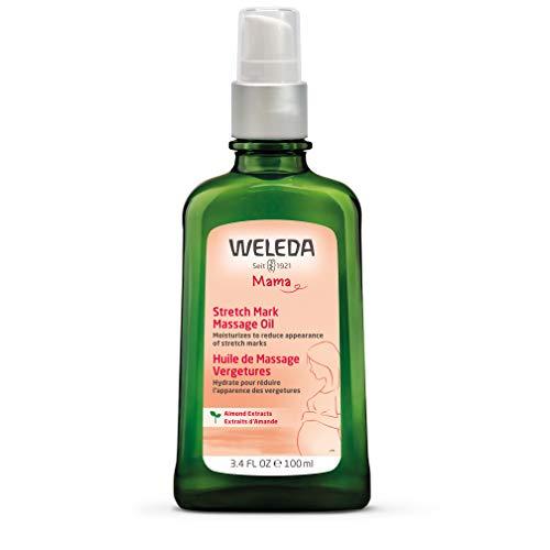 WELEDA Schwangerschafts-Pflegeöl, pflegendes Naturkosmetik Massageöl zur Vorbeugung- und Beseitigung von Schwangerschaftsstreifen am Bauch, Oberschenkel und an der Brust (1 x 100 ml) -