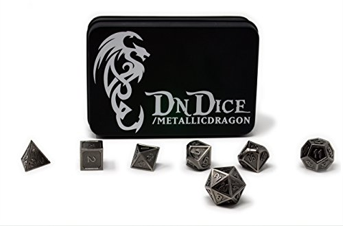 Metallic Dragon - Solid Metal Poly Dice Set By DnDice -...