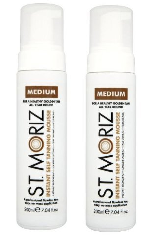 St Moriz Lot de 2 mousses auto-bronzantes Medium 200 ml
