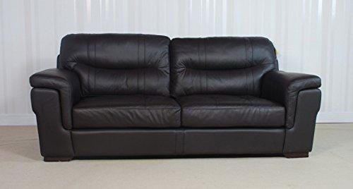 Designer dayson braun Leder 3-Sitzer-Sofa (186) £399