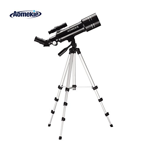 Aomekie 70/400 Refraktor Teleskop Tragbares Astronomisches Teleskop Fernrohr für Kinder, Einsteiger...