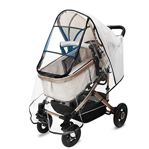 HOKEKI Universal Komfort Regenschutz für Kinderwagen, für Buggys, für Sportwagen, Regenhaube für Kinderwagen, Windschutz Bequemes Zugangsfenster, Gute Luftzirkulation, Schadstofffrei