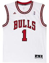 adidas Men's Chicago Bulls Derrick Rose Nba Replica Jersey-White, Medium