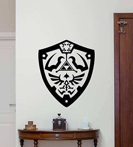 zhuziji Legend of Zelda Vinyl Wall Decal Boys Room Removable Decor Modern Design Wall Stickers for Kids Rooms 50x42cm
