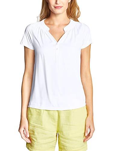 Cecil Damen 313380 T-Shirt, per Pack Weiß (White 10000), Small (Herstellergröße:S) - Frauen Pack Weißes T-shirt