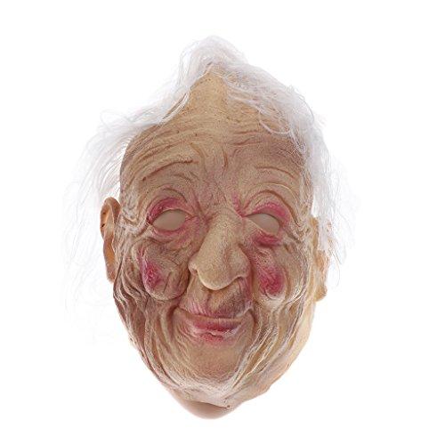 Hexe Kostüm Halloween Alte - LOVIVER Halloween Frontgesichtsmaske Alte Hexe Frauen Maske Kostüm Prop Karneval