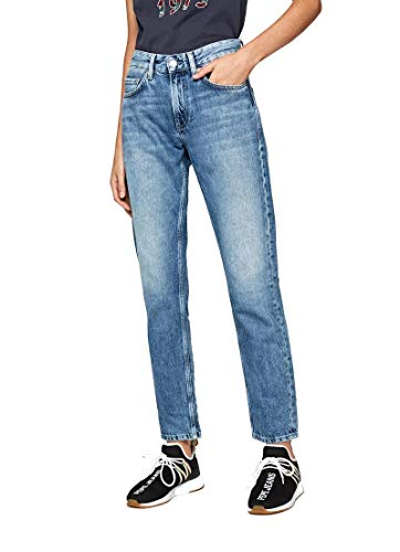 Pepe Jeans Damen Mable Straight Jeans, Blau (Medium Used Denim Gm3), W27/L32
