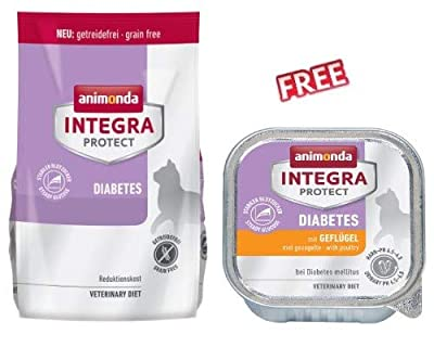 Integra Protect Diabetes 1.2kg Complete Dry Food for Cats with Diabetes Helps Maintain Stable Blood Sugar Level High in Protein & Low in Carbohydrates by Integra