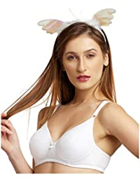 611f26e580 DAISY DEE White Color Cotton Regular Straps Seamless Full Coverage Non  Padded T-Shirt Bra for Women - SUPERSHAPER Simply…