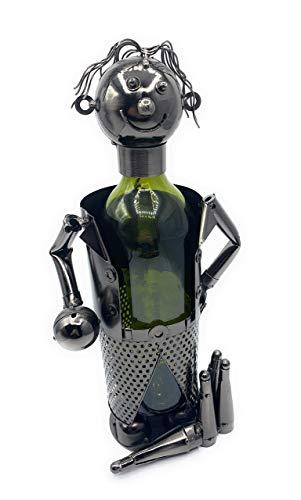GILDE Metallfigur Kegler Weinflaschenhalter ca 33 cm Männergeschenk Nr 65576