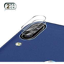 XCYYOO [2 Pièces Caméra Protecteur D'écran Film pour ASUS Zenfone Max Pro (M1) ZB602KL -Verre Trempé Caméra Protecteur [Bord Arrondi 2.5D] [7.5H Dureté] [sans Bulles] Caméra Arrière Protecteur
