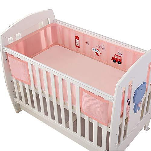 Kit de literie pour bébé 3D respirant taille universelle lavable lavable 120 * 60 rose