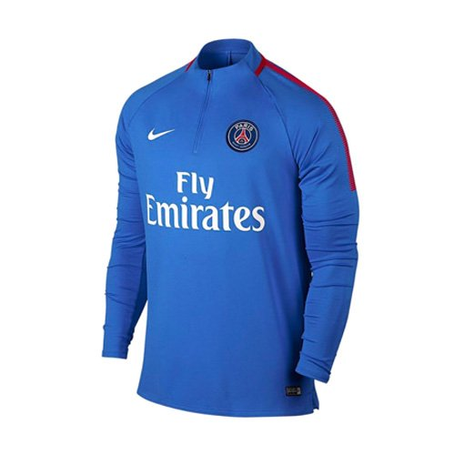 Nike PSG Dry Sqd Dril Camiseta, Hombre, Azul (hipercobalto/Rojo enérgico) / Blanco, XL