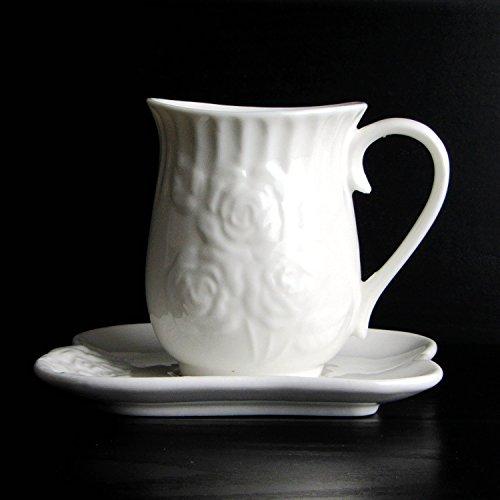 HONGYUANZHANG Kaffeetasse Rein Weiße Keramik Tasse Kaffeetasse Home Office Tasse (150 Ml)