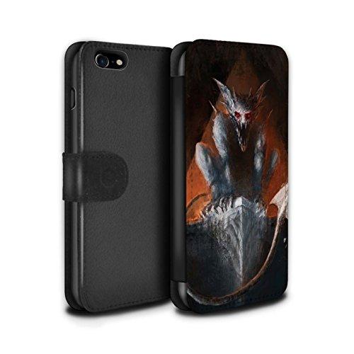 Offiziell Chris Cold PU-Leder Hülle/Case/Tasche/Cover für Apple iPhone 7 / Raubtier/Jäger Muster / Wilden Kreaturen Kollektion Vampirfledermaus