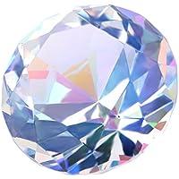 H&D - Pisapapeles decorativo de cristal K9, diseño de diamante, 30mm, color colorful