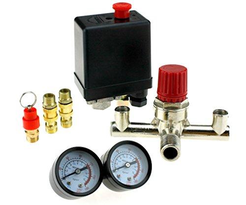 Preisvergleich Produktbild 220V 16A Neu Druckregler+ Druckschalter Schalter fuer Luft Kompressor