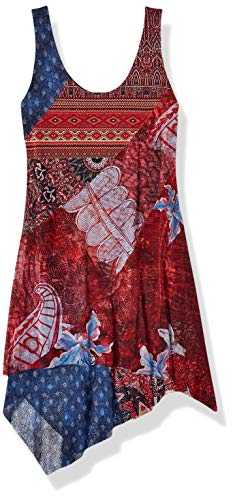 Desigual Damen Kleid Dress Sleeveless PEQUOT Woman RED, Rot (Rojo Marine 3053) X-Large