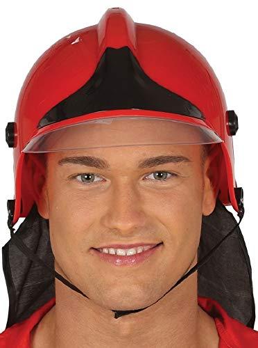 Fancy Me Herren Damen Kostüm Feuerwehrmann Feuerwehrmann Hirsch Helm, Kostüm, Hut (Feuerwehrmann Kostüme Damen)