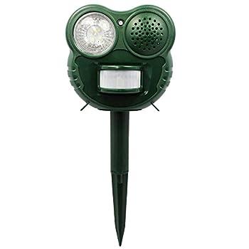 Chasse Nuisibles Froggy Shape - Flash 5 LED - Ultra sonique - Détecteur de Mouvements