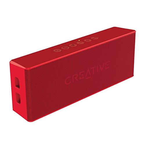 CREATIVE MUVO 2 Altoparlante Bluetooth, Potente, Resistente agli Spruzzi, Rosso