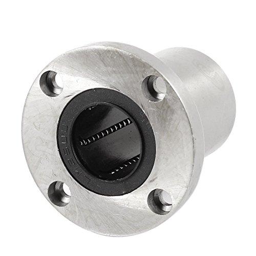 uxcell a14041700ux0904LMF25UU 25mm Inner Dia 4Schrauben Flansch InEar Motion Kugellager, 3,3cm Breite, 1Gummi (Gummi-flansch-dichtungen)