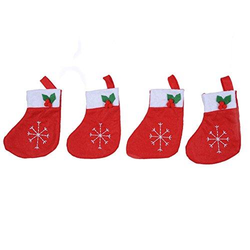 Weihnachten Dekorations Christmas 4 Stk Strümpfe Besteck-Sets Tasche LianLe