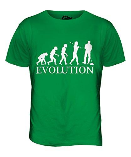 CandyMix Hausmeister Parkwächter Evolution Des Menschen Herren T Shirt Grün