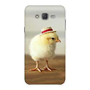 Delighted Hat Chik Back Case Cover for Galaxy J7