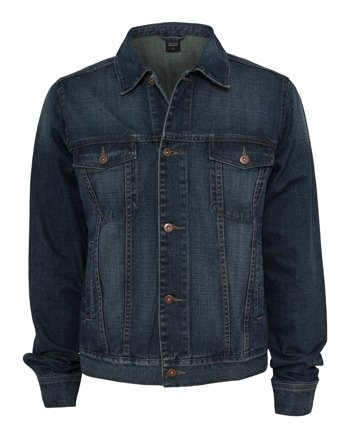 Urban Classics Herren Denim Jacket Jacke, Blau (Denimblue 319), Large Urban Denim Jacke