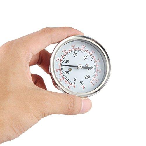 leoboone BBQ-Thermometer-Industrie-Thermometer für einen Mondenschein-noch Kondensator-Brauen-Topf-Temperatur-Instrument-Edelstahl-heißes, Silber - Brauen Topf