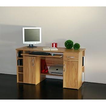 4129 computertisch schreibtisch pc tisch in for Kernbuche computertisch