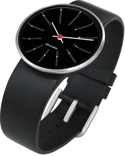 Rosendahl - 43436 - Montre Mixte - Quartz Analogique - Bracelet Cuir Noir