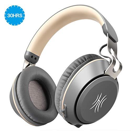 OneOdio Bluetooth Kopfhörer 30 Stunden Spielzeit Kabelloses Over Ear Headset mit eingebaute Mikrofon für PC, Dual 40mm Treiber Pefekte Bass, Over-Ear Steuerung Soft Memory-Protein Ohrenschützer