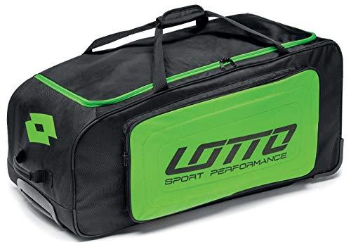 Lotto Trolley Team II, Mochila Unisex Adulto, Negro (Black/Mint Fl), 36x24x45 cm (W x H x L)