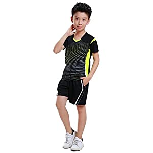 SANKE Boy Atmungsaktive Kurzarm T-Shirts und Shorts 2Pics Training Sets