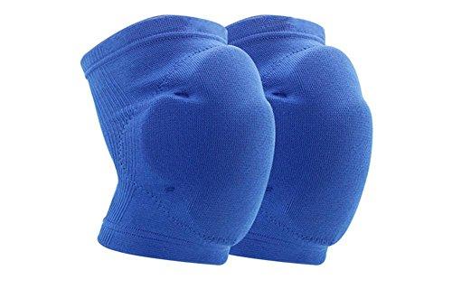 Kniestütze Reiten Skating Fitness Sport Baumwolle Schwamm Kniestütze für Arthritis 1 para, Blue