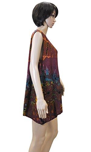 Sommerbekleidung Lagenlook weites Shirt Top Maxirock Bandeaukleid Pumphose Batik 42443 - Top