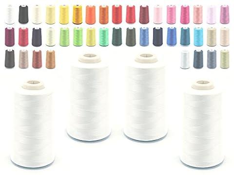 Schno Push 4Cones Overlockgarn 40/2(120), Sewing Thread 5000Yards (4570m),