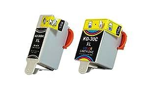 Pack de Cartouche d'encre Compatible Kodak 2 unités 395263 & 3952371 / Nr 30 XXL (19 ml & 42 ml)