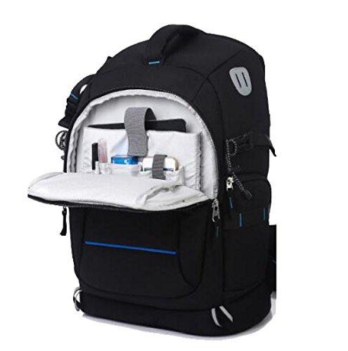 Neuere Kamera-Schlinge Anti-Diebstahl-Rucksack-Kasten Wasserdichtes Leichtes Und Haltbares Für DSLR Und Spiegellose Kamera,BlackA BlackC