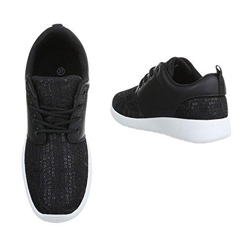 Sneakers casual nere per donna E5A14bMI