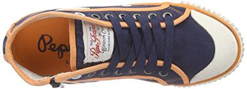 Pepe Jeans Industry Basic16, Baskets hautes femme Bleu - Blau (580SAILOR)