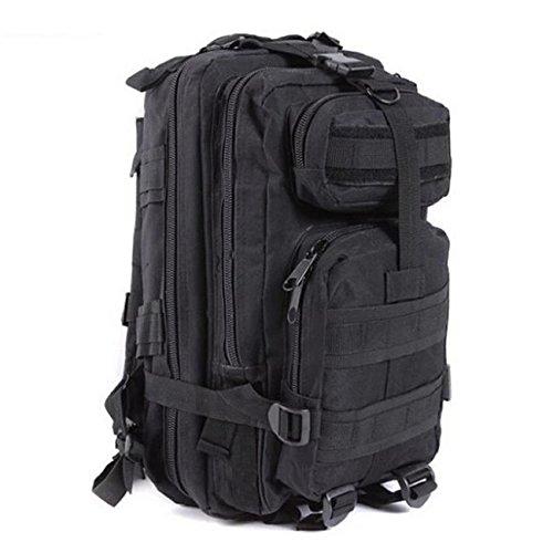 Mefly Tattiche Di Mimetizzazione Sacchetto Impermeabile Zaino 3P Zaino Militare Di Nylon Esercito Di Viaggio Fx Camouflage black