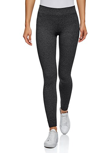 oodji Ultra Damen Jersey-Leggings Basic, Grau, DE 36 / EU 38 / S